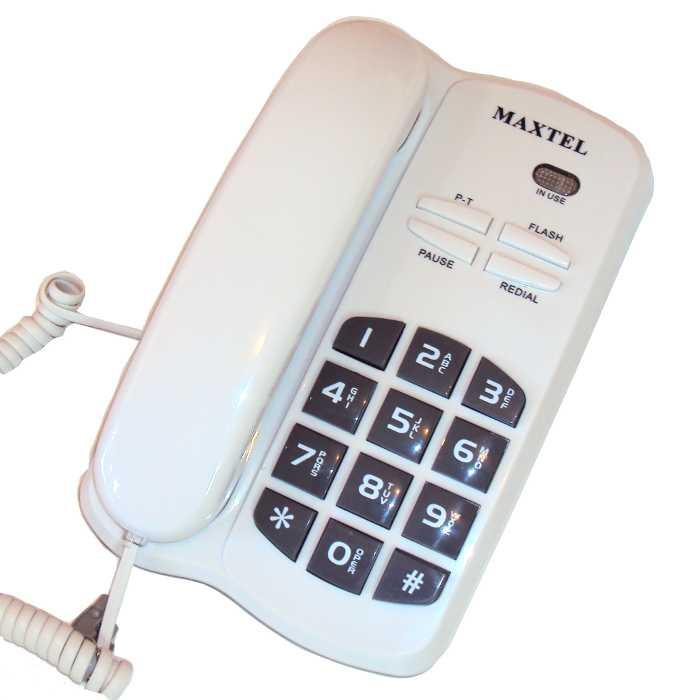 Telefone com Fio - Tecla Grande - Homologado pela Anatel - Maxtel - MT-3036