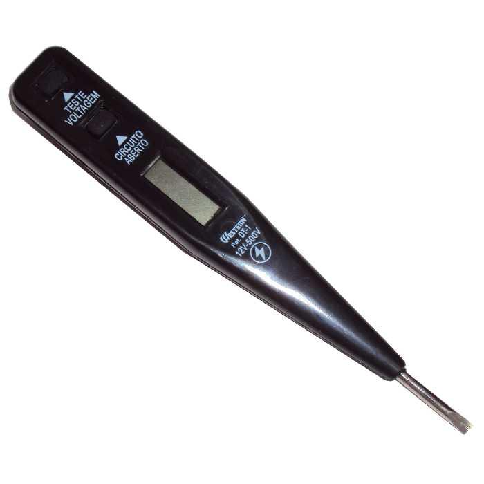 Teste de Voltagem e Corrente Elétrica Digital por Indução de 12V a 500V - Western - DT-1