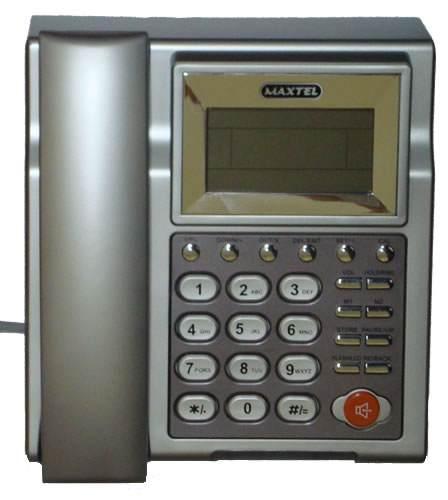 Telefone com Bina Identificador de Chamadas Viva Voz Prata Maxtel MT-509CID