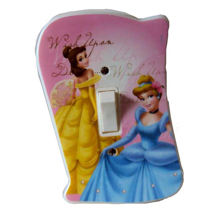 Espelho - Placa para Interruptor com Interruptor Incluso - Princesas Disney - Startec - 120900001