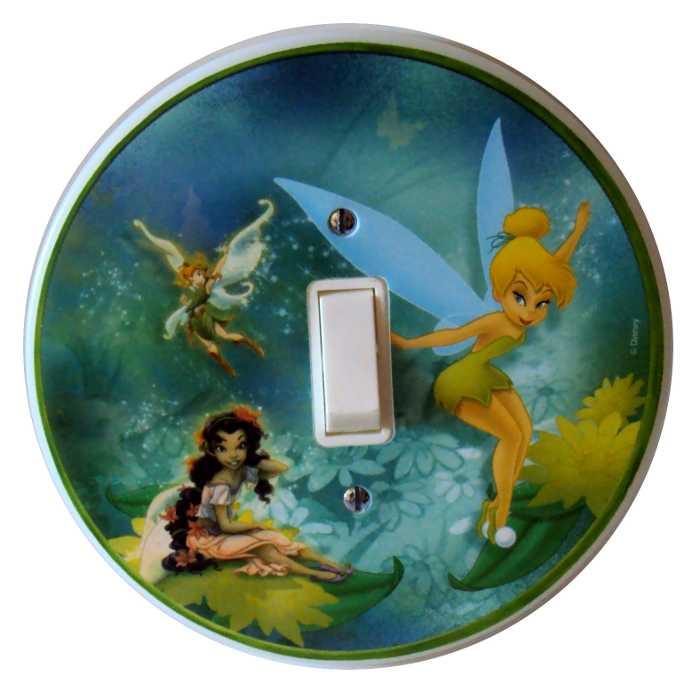 Espelho - Placa para Interruptor com Interruptor Incluso - Fadas Disney - Startec - 120900000