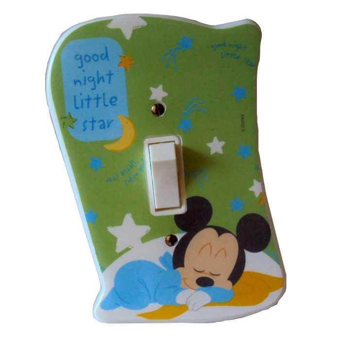 Espelho - Placa para Interruptor com Interruptor Incluso - Mickey Mouse Baby Disney - Startec - 120900008