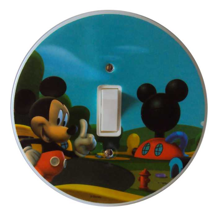 Espelho - Placa para Interruptor com Interruptor Incluso - Mickey Mouse Disney - Startec - 120900009