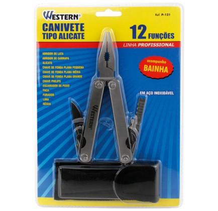 Canivete Tipo Alicate com 12 Funções com Bainha - Western - P-121