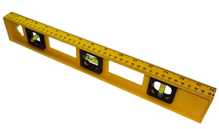 Nível de Bolha com 3 Bolhas 16´ - 40cm - Western - HT-16