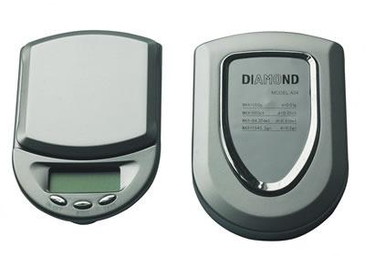 Mini Balança de Precisão - 0,1g - Pesa até 500g - Diamond A-04