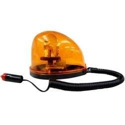 Luz de Alerta Giratória para Sinalização de Veículos com Base Imantada 12V Lee Tools 689502
