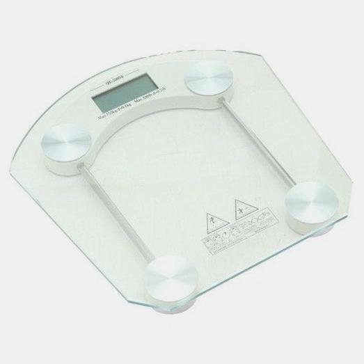 Balança Digital De Vidro Temperado Retangular Leque Capacidade Até 150 Kg