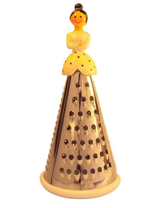 Ralador para Cozinha, Ralador de Queijos e Outros com Decoração de Boneca em Resina - Casambiente - RAL06