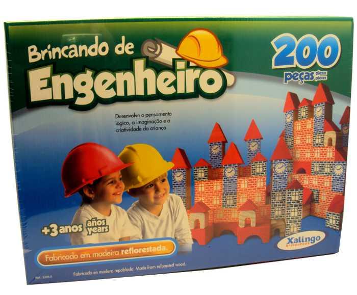 Brincado de Engenheiro - Jogo de Montar com 200 Peças - Xalingo - Ref. 5306.5