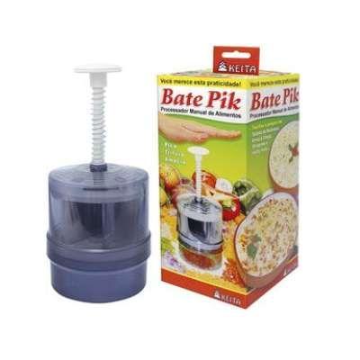 Bate Pik - Processador Manual de Alimentos - Faca Giratória em Aço Inox - Keita
