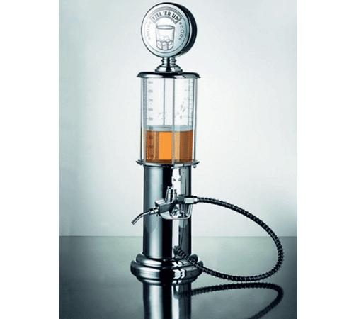 Porta Bebida Cromado em Formato de Bomba de Combustível - Capacidade de 1 Litro - BonGourmet - 7325