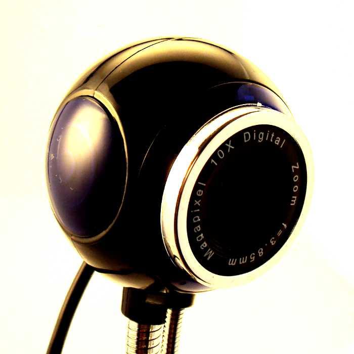 Webcam com Sensor de 2 Mega Pixel e Interpolação de até 8 Mega Pixel com Microfone USB 2.0 - 1601