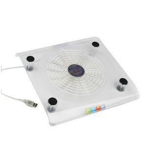 Cooler Suporte para Notebook em Acrílico Resfria com 1 Ventoinha de 16cm de Diâmetro Com Alimentação USB - 828
