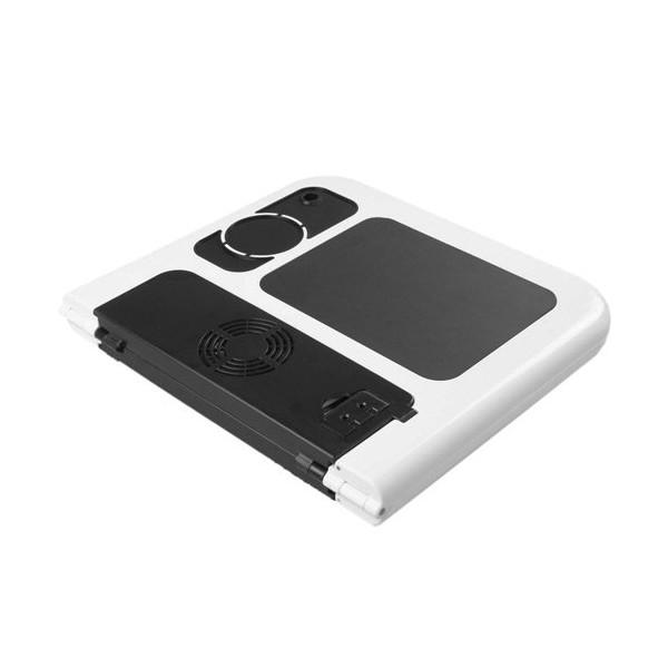 Mesa de Suporte para Notebook Dobrável Egonômica com Cooler USB - LD-09
