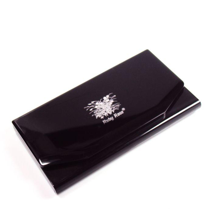 Conjunto Kit de Maquiagem com Pó Compacto, Blush, Sombra, Batom, Delineador para Olhos e Pincéis - Ruby Rose - HB-3826