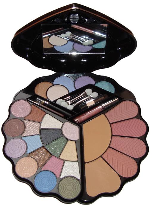 Kit Conjunto de Maquiagem com Blush, Sombras, Pó Compacto Brilho para Lábios, Delineador para Olhos e Lábios - Ruby Rose - HB-2515B