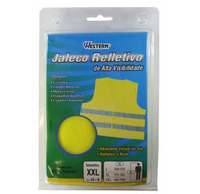 Jaleco Refletivo Alta Visibilidade Tipo Colete Equipamento de Proteção Individual (EPI) - Western - JS1 JS2 ou JS3