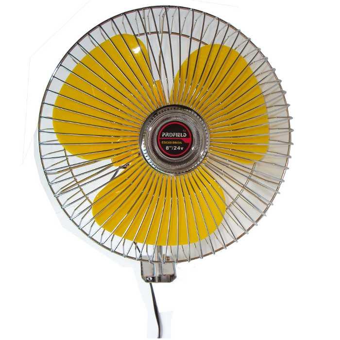 Ventilador para Carro, Caminhão ou Barco - 20cm (8´ Polegadas) - 24V para ser ligado no acendedor - Profield - 01701081