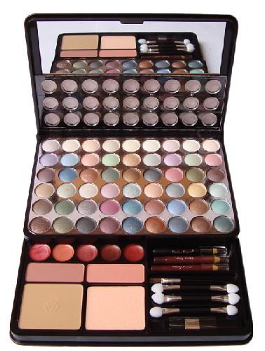 Estojo de Maquiagem Conjunto com Sombra, Batons, Blushe e Outros - Ruby Rose - HB-3820