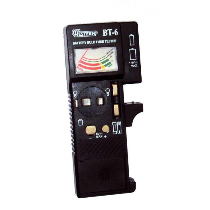 Testador de Pilhas e Baterias 3 em 1 - Testa Baterias Pilhas Fusiveis e Lampadas - Western - BT-6