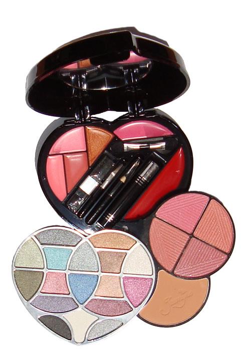 Estojo de Maquiagem com Sombras Batons Blush Pó Mascara 33 Itens Jasmyne V046-I