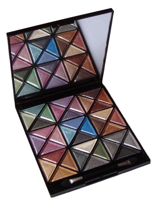 Estojo de Maquiagem com Sombras 3D 36 Cores e Pinceis Jasmyne V914
