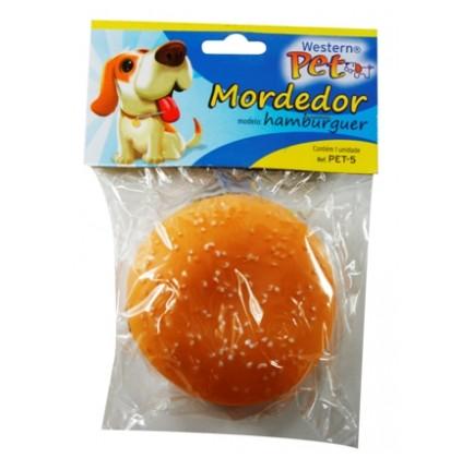 Brinquedo para Cachorro e Gato Mordedor Hamburger Western PET-5
