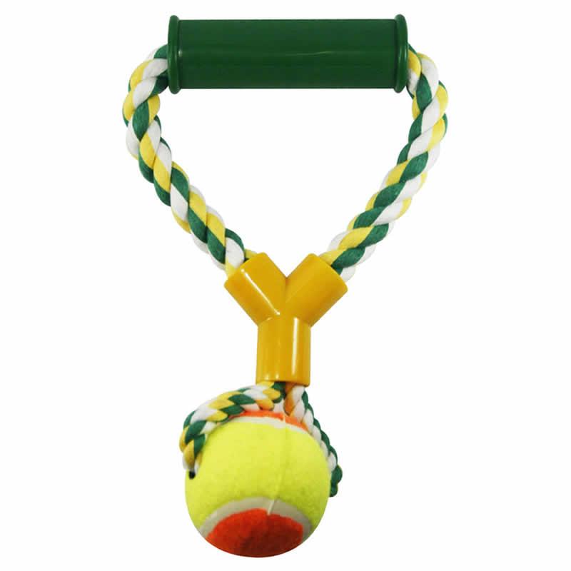 Brinquedo para Cachorro e Gato Mordedor Corda com Bola Western PET-10