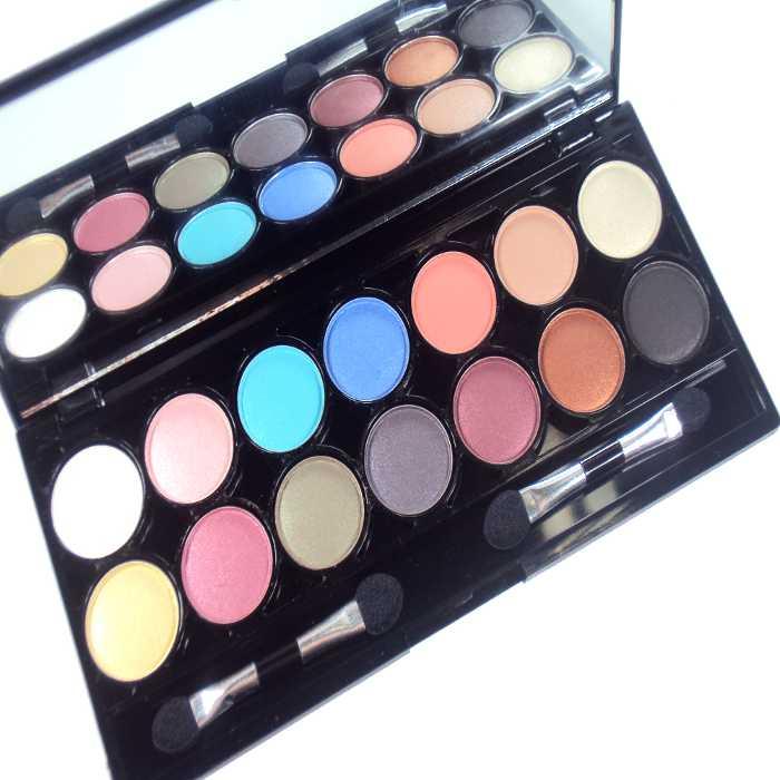 Estojo de Maquiagem com 14 Sombras com Espelho Jasmyne V047