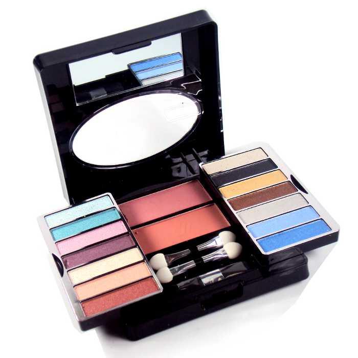 Estojo de Maquiagem com 14 Sombras e 2 Blushs Ruby Rose HB-3825