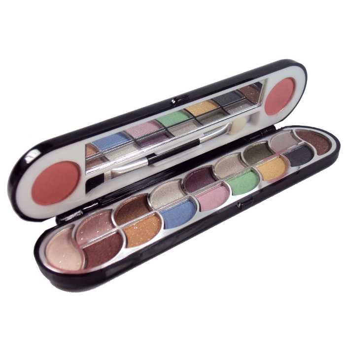 Estojo de Maquiagem com 16 Sombras e 6 Blush com Espelho Ruby Rose HB-107B
