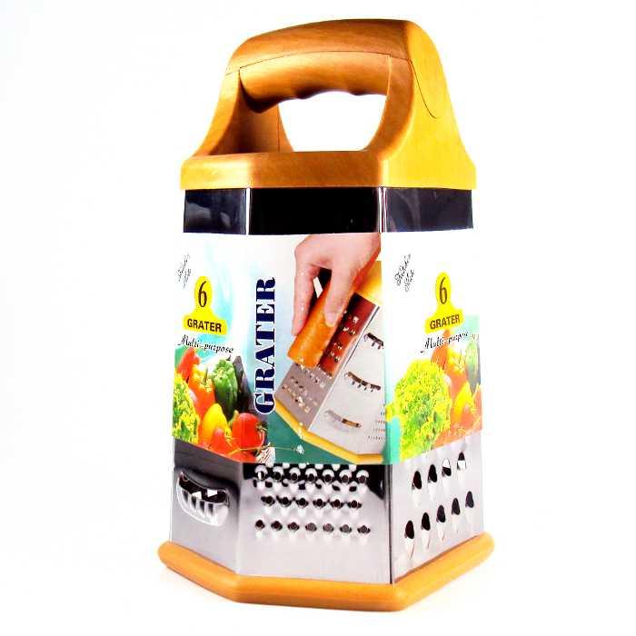 Ralador de Queijos e Legumes com 6 Faces em Aço Inox e Base Emborrachada MP1730