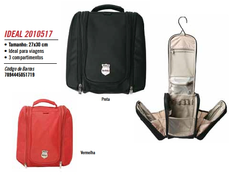 Frasqueira para Viagem Ideal Vermelha 2010517 Batiki