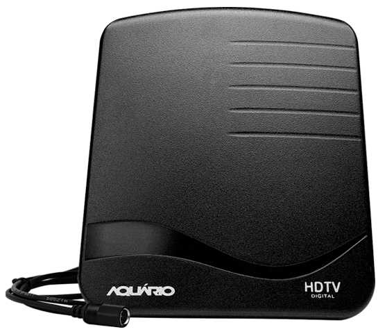 Antena para TV Digital Interna HDTV UHF Aquarios DTV1000