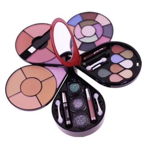 Estojo de Maquiagem com Sombras Pós Compactos Blush Lápis e Outros Gota Ruby Rose HB-2501R