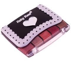 Estojo de Maquiagem com 12 Sombras e 5 Batons Ruby Rose HB-383