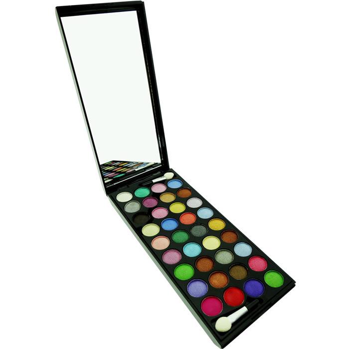 Estojo de Maquiagem Paleta com 36 Cores de Sombras 3D Ruby Rose HB-4004