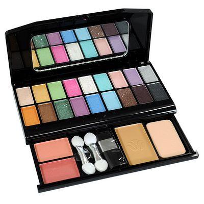 Estojo de Maquiagem com Sombra, Pó Compacto e Blush Ruby Rose HB-2610 Cor 1
