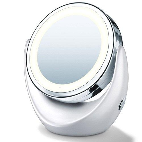 Espelho com Iluminação Luz de LED Duplo com Aumento 5x e Normal Touch Beauty AS0678