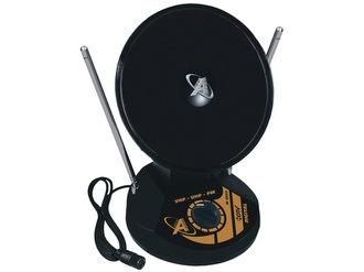 Mini Antena Digital Parabólica Interna UHF VHF FM HDTV Castelo 1035