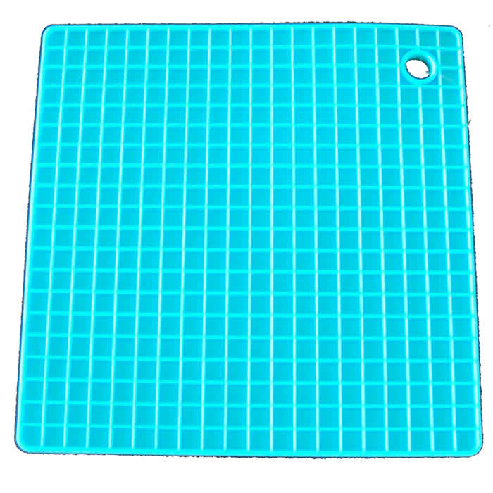 Apoio Descanço para Panela em Silicone Colorida Azul