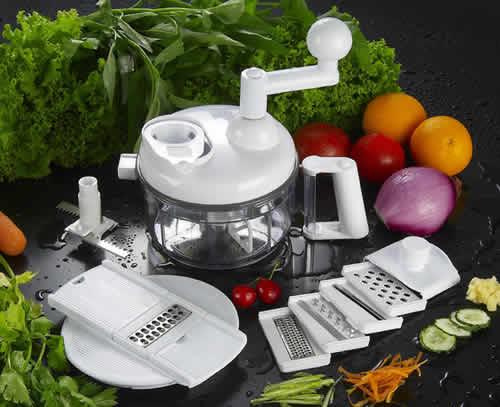 Multiprocessador Manual de Alimentos com Ralador Bate Pica e Seca Salada A381