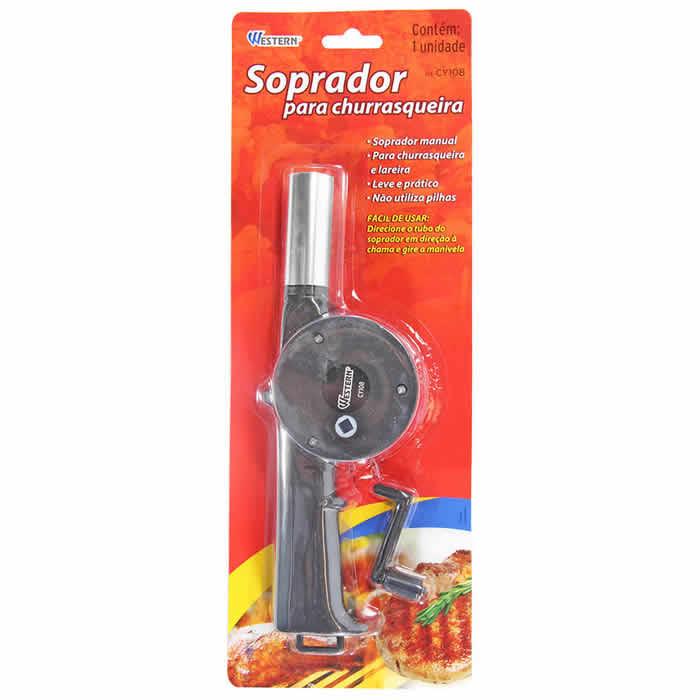 Acendedor Soprador De Churrasqueira E Lareira Manual Bbq Fan Western CY108