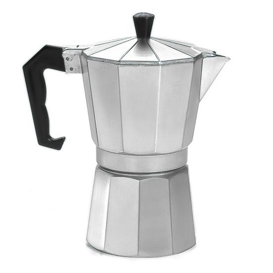 Cafeteira Tipo Italiana em Alumínio com Capacidade para 6 Xícaras