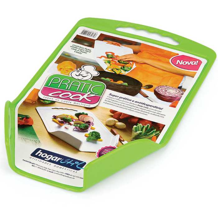 Tábua de Corte com Abas Verde Pratic Cook 2750