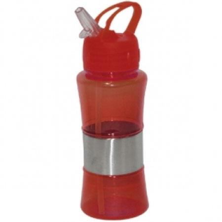 Garrafa Squeeze com Bico em Silicone 400ml Vermelha Wincy SQZ1021