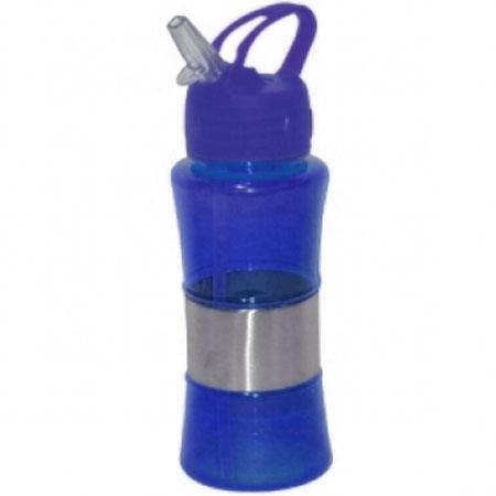 Garrafa Squeeze com Bico em Silicone 400ml Azul Wincy SQZ1021
