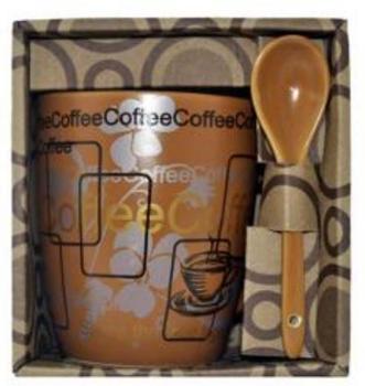 Caneca para Café com Colher em Porcelana Wincy CUP1002