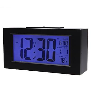 Relógio de Mesa Digital com Dígitos Grandes e Despertador Preto 820
